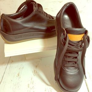 Vintage Louis Vuitton Brown Leather Tennis Shoe